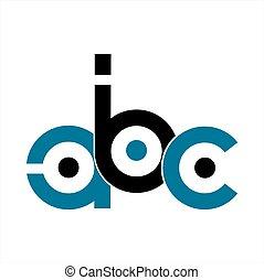 abc, companhia, letra, logotipo, ícone, iniciais
