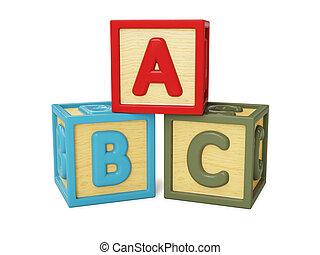 abc, componentes básicos, aislado