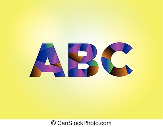 ABC Concept Colorful Word Art Illustration