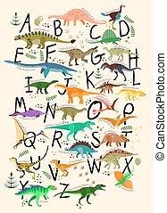 abc, dinosaurs.