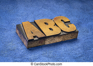 abc - first letters of alphabet