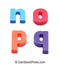 ABC fridge magnets - letters n, o, p and q Mix and Match to ...