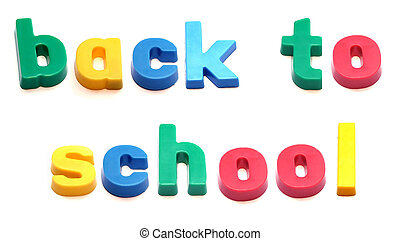 ABC fridge magnets spell 'back to school'