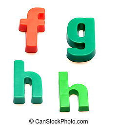ABC fridge magnets - letters f, g and h Mix and Match to...