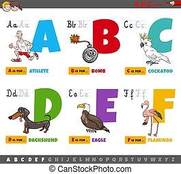 abc, gyerekek, karikatúra, irodalomtudomány, nevelési