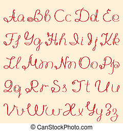 abc - handwritten alphabet