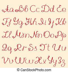 abc - handwritten alphabet