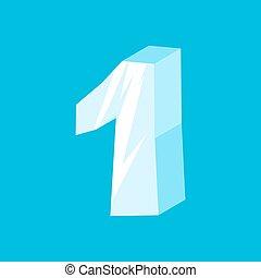 abc, iceberg, congelado, alfabeto, icicles, número, one., sinal, 1, ice., fonte, símbolo.
