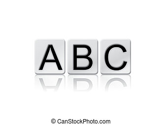ABC Isolated Tiled Letters Concept and Theme