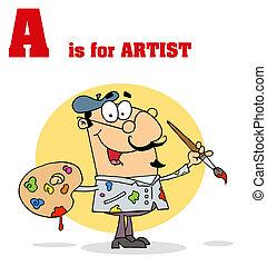 abc, karikatúrák, furcsa, text-a