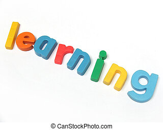 'Learning' written in fridge magnets