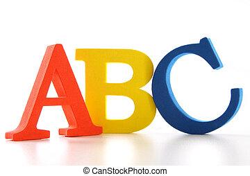 abc, lettere, bianco