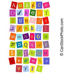 ABC letters - Colorful alphabet letters for design. vector