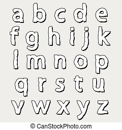 ABC lowercase bloated alphabet - ABC complete lowercase...