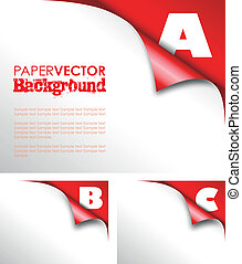 abc paper fold - abc red paper fold