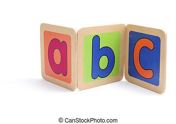 ABC Pieces on White Background