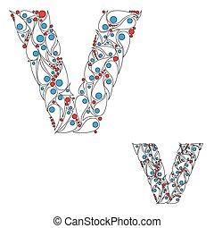 abc, v., vector., lettre, élément