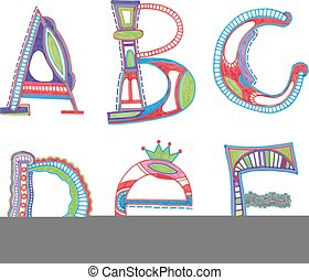 ABC. vector font.