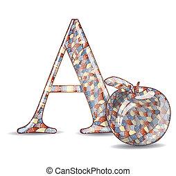 Abc with cartoon.