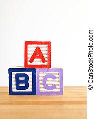 ABC wooden toy block