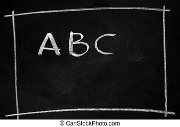ABC written on blackboard