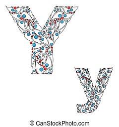 abc, y., vector., lettre, élément