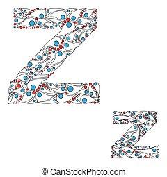 abc, z., vector., lettre, élément