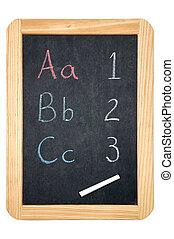 ABC/123 blackboard