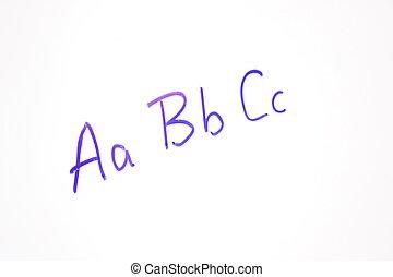 ABC's on Whiteboard