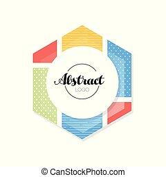 Abctract geometric logo template, minimalist design element...
