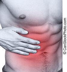 abdominal, dor
