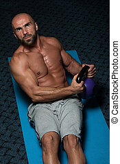 Abdominal Exercises With Kettlebell Bodybuilding Training