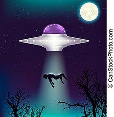 abducts, ufo, uomo