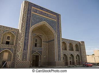 Abdullah-khan madrasah in Kosh-Madrasah complex. Bukhara,...