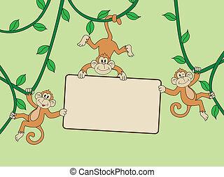 abe, hos, blank underskriv