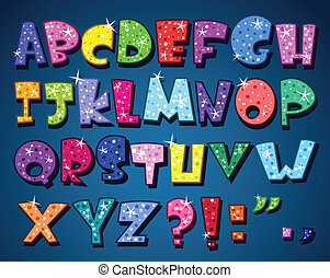 abeceda, jiskřivý