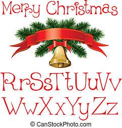 abeceda, vánoce