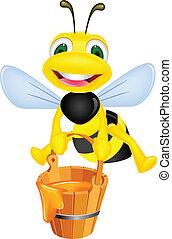 abeille, à, miel