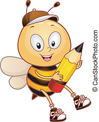 abeille, crayon