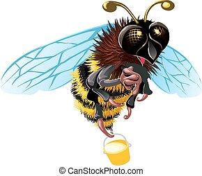 abeille, heureux