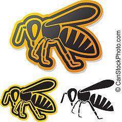 abeille, icône, (honey, bee)