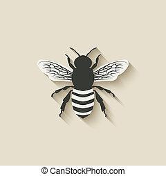 abeille, insecte, icônes