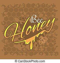 abeille miel, étiquette