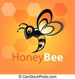 abeille miel, icône