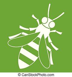 abeille miel, vert, icône