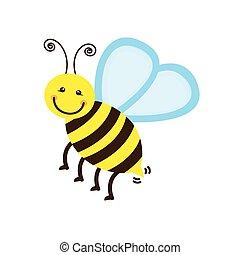 abeille, stockage, coloré, icône