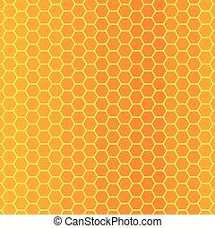 abeille, texture, rayon miel