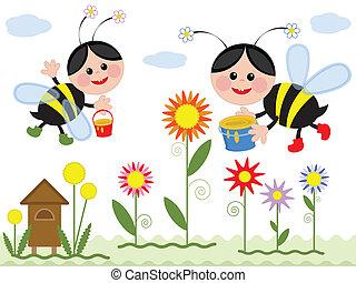 abeilles, deux