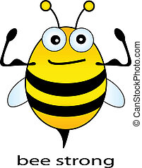 abeja, fuerte