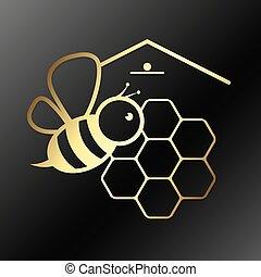 abeja, panales, símbolo